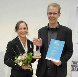 Foto: Nadine Sydow und Sandro Böhm haben ein biologisches Mittel gegen Schnecken erfunden.